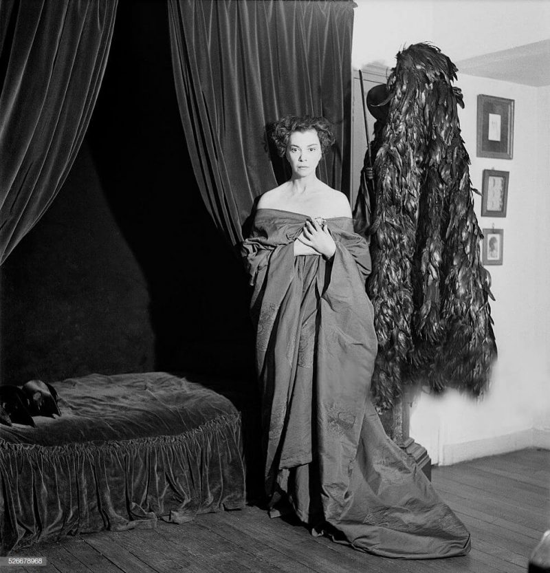 leonor-fini-surrealist-painter-stage-designer-and-writer-born-in-in-picture-id526678968